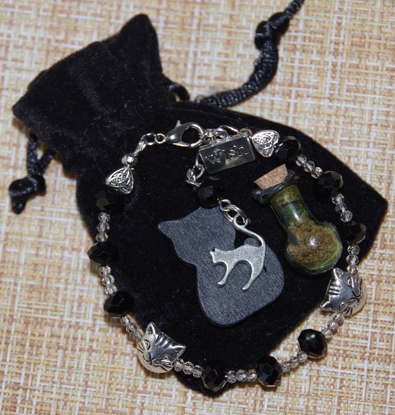 Черный Кот Удачи - браслет с формулой